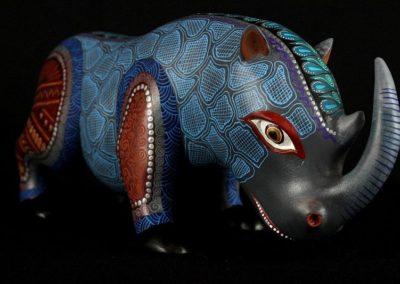 19b-Rhino Standing Alebrije Oaxacan2
