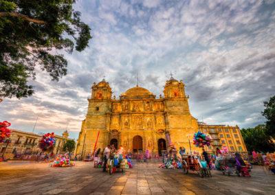 Evening at La Catedral de Oaxaca