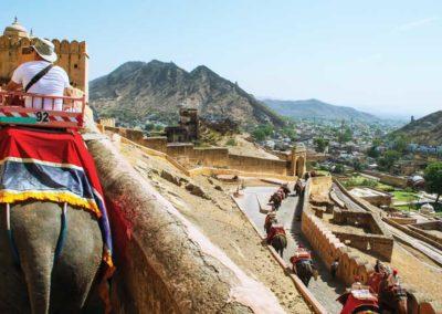 El fuerte y palacio de Amber es considerado un Patrimonio del mundo por la UNESCO.