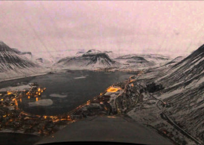 Landing at Isafjordur,